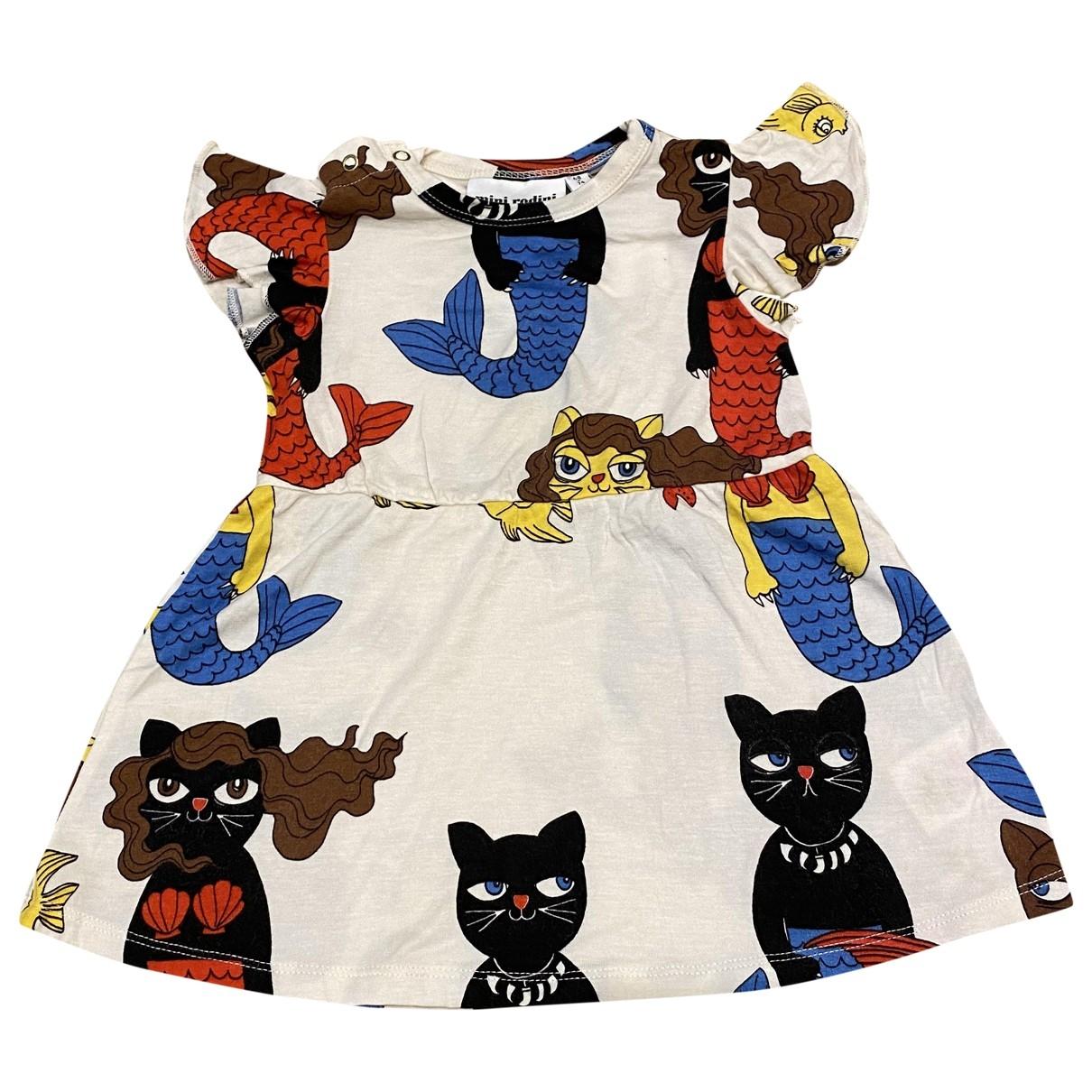 Mini Rodini - Robe    pour enfant en coton - elasthane - multicolore