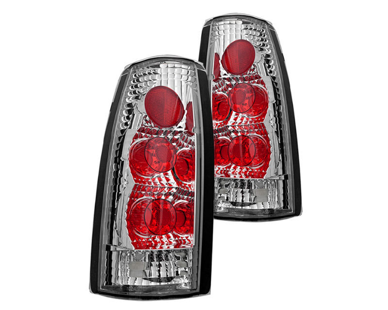 Winjet WJ20-0003-01 Clear Chrome Altezza Tail Lights Chevrolet CK 2500 88-98