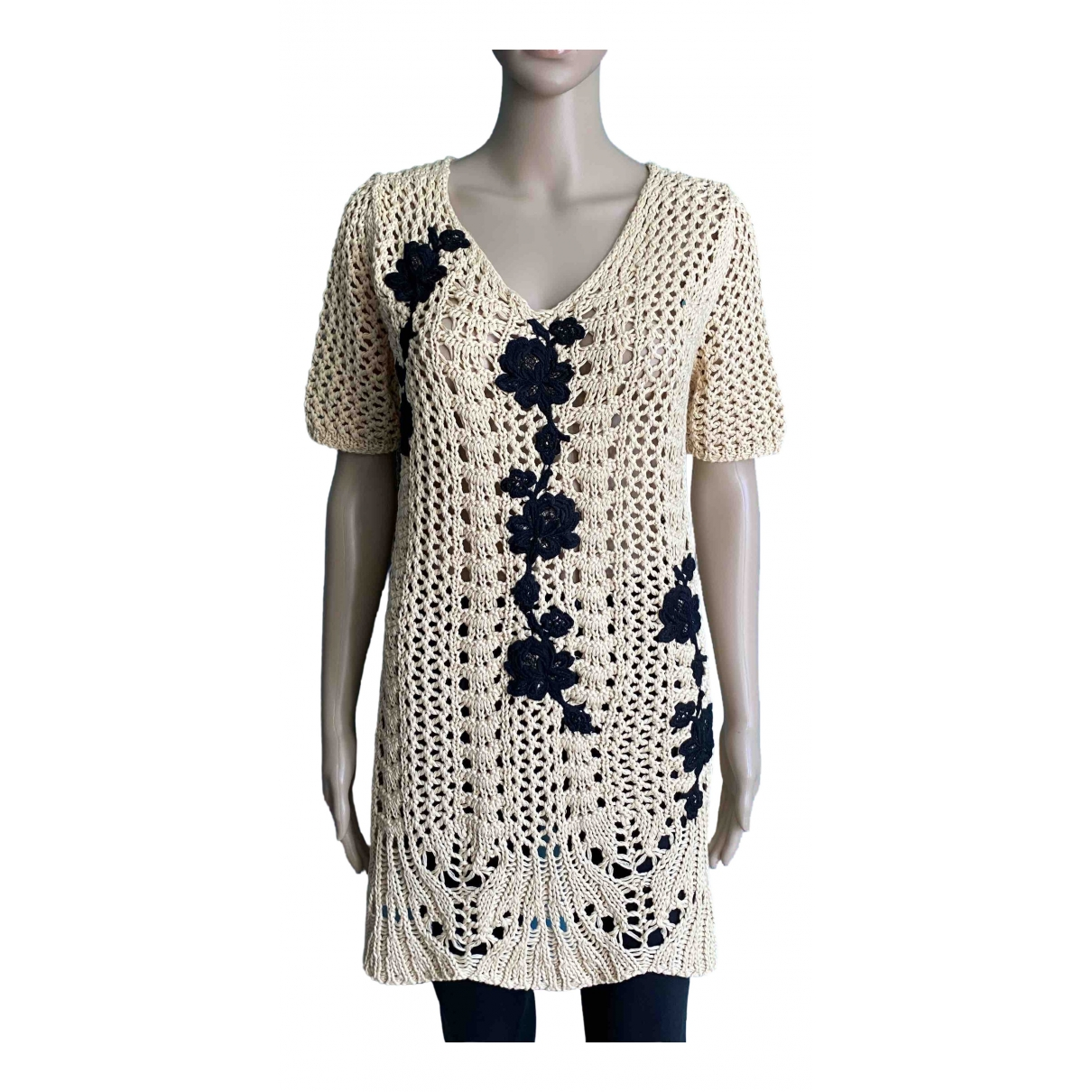 Twin Set \N Beige Cotton Knitwear for Women S International