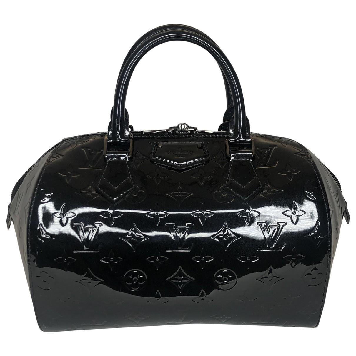 Louis Vuitton - Sac a main   pour femme en cuir verni - noir