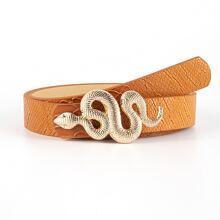 Snake Design Buckle Belt