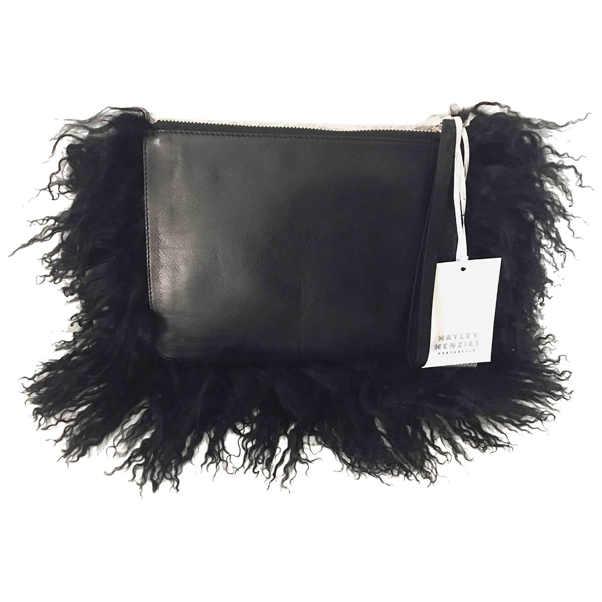 Hayley Menzies - Pochette   pour femme en cuir - noir