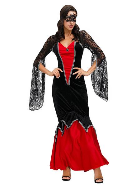 Milanoo Disfraces de Halloween vampiro vestido de las mujeres