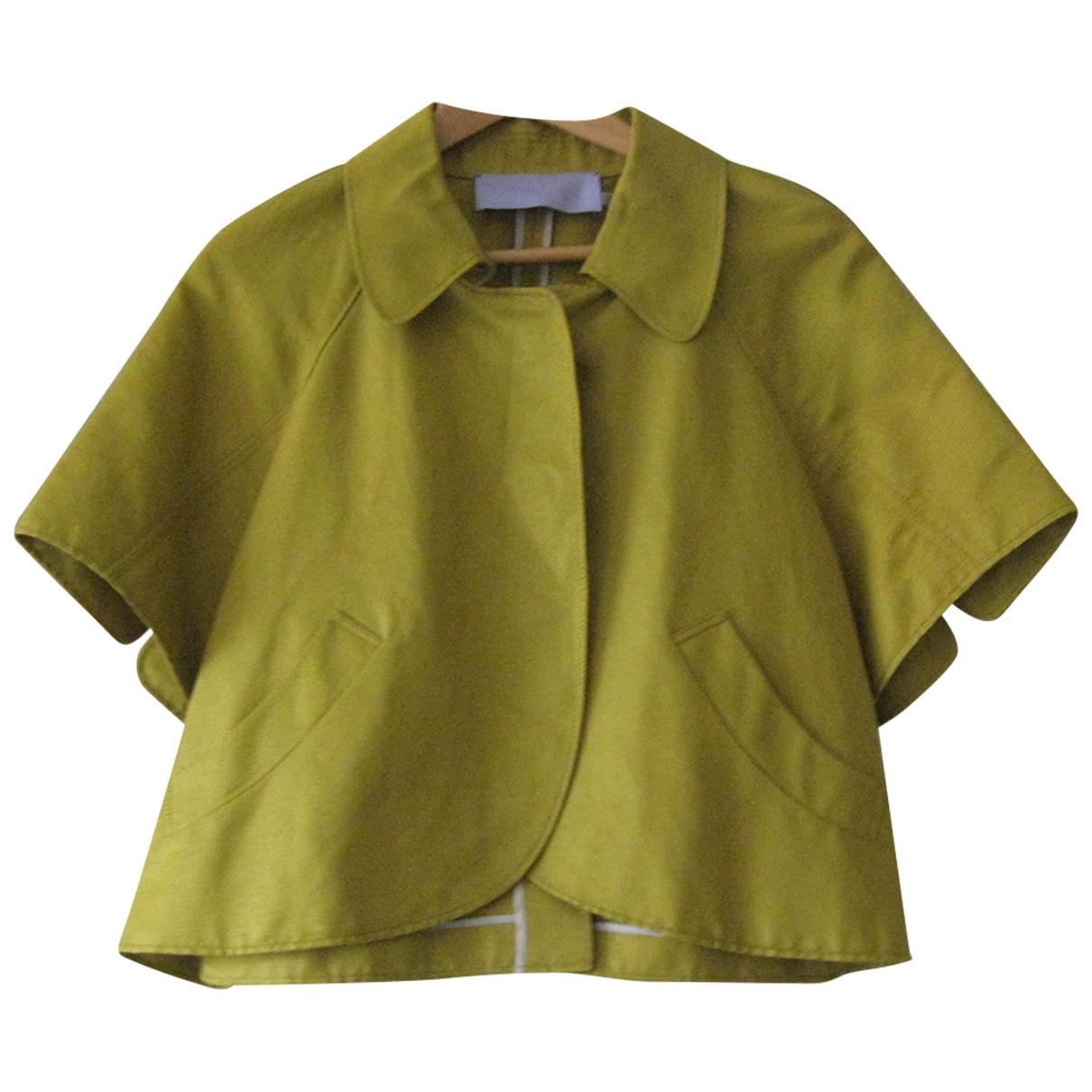 Vera Wang \N Jacke in  Gold Baumwolle
