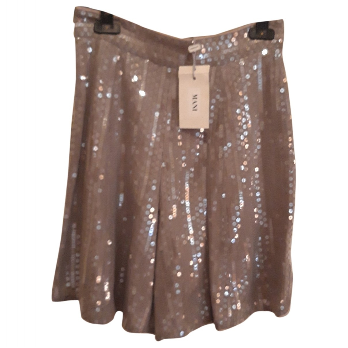 Non Signé / Unsigned \N Grey Glitter Shorts for Women 42 IT