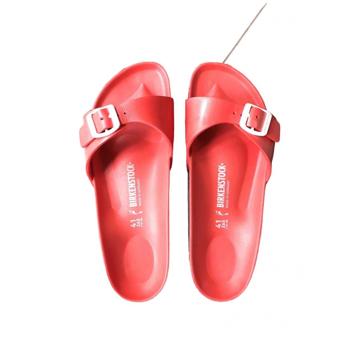 Birkenstock \N Sandalen in  Rot Kunststoff