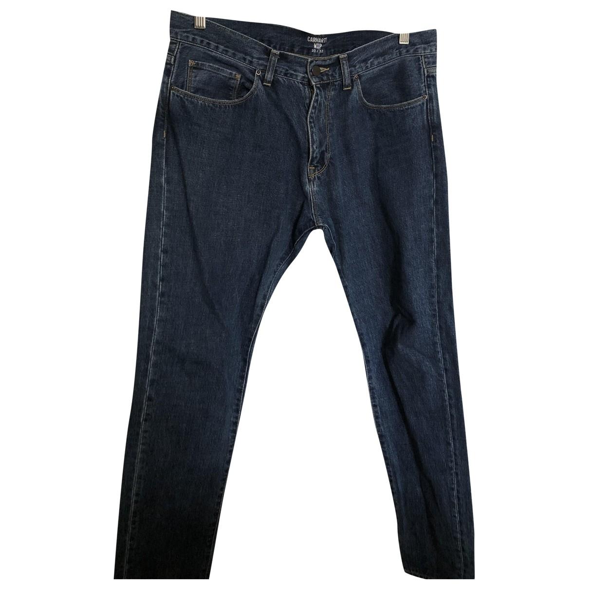 Carhartt Wip - Jean   pour homme en coton - bleu