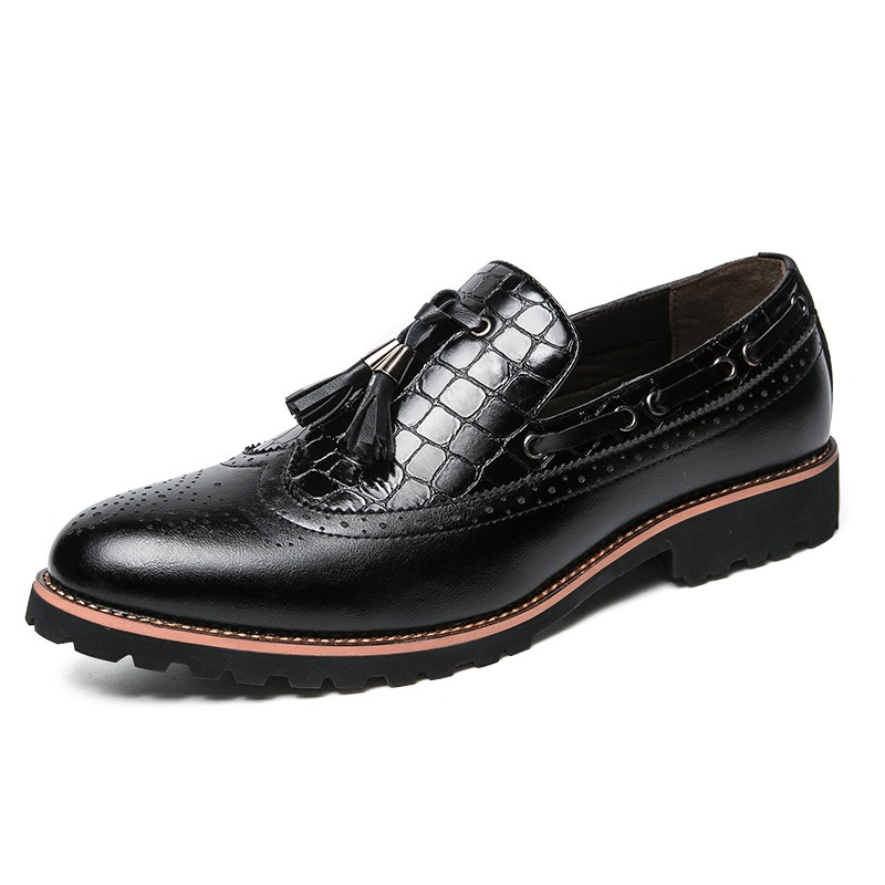 Eicdress Fringe Round Toe Low-Cut Upper Men's Oxfords