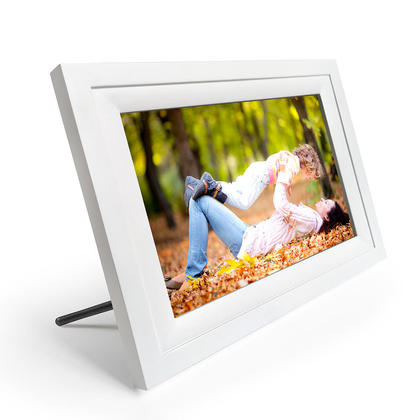 10'' WIFI Digital Photo Frame with Touch Screen, Built-in 4GB Memory - White