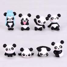 8pcs Panda Shaped Decorative Object