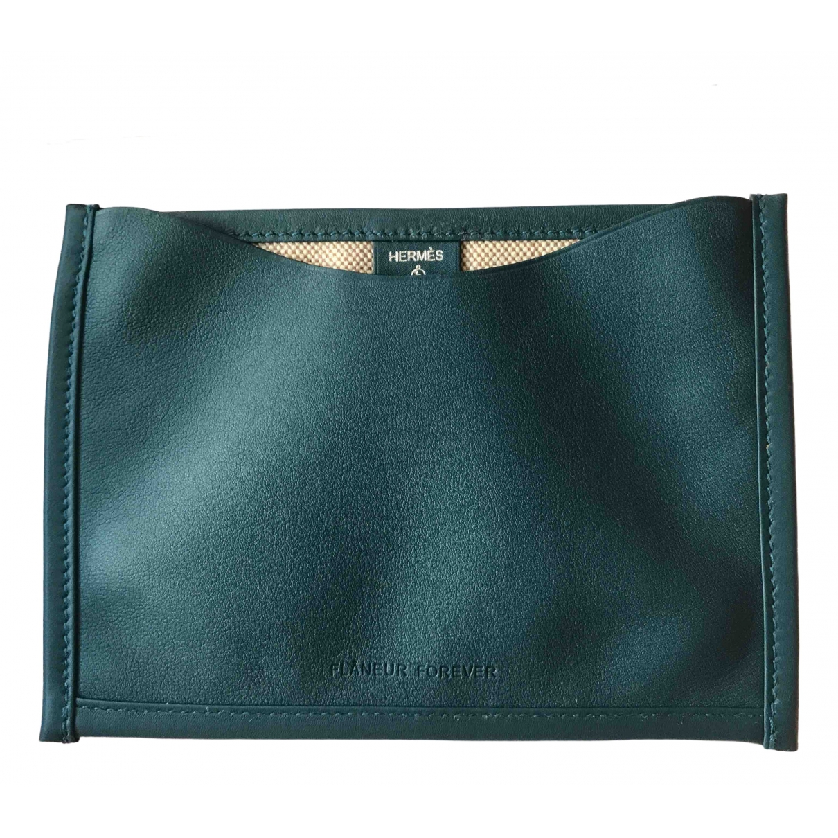 Hermes \N Clutch in  Blau Leder