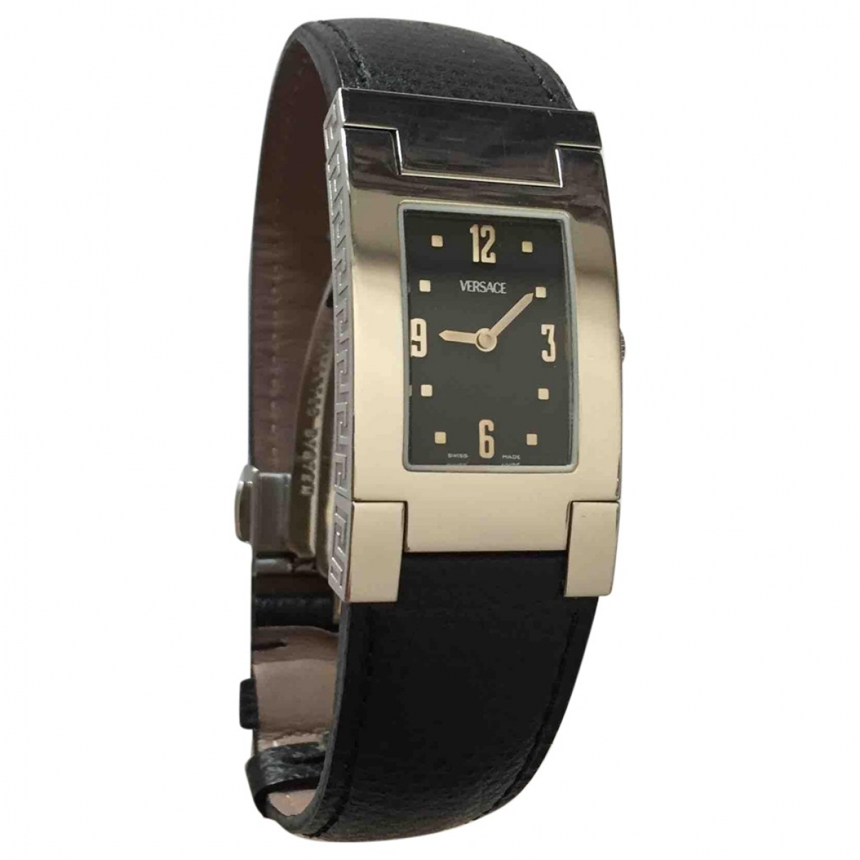 Versace \N Uhr in  Schwarz Stahl