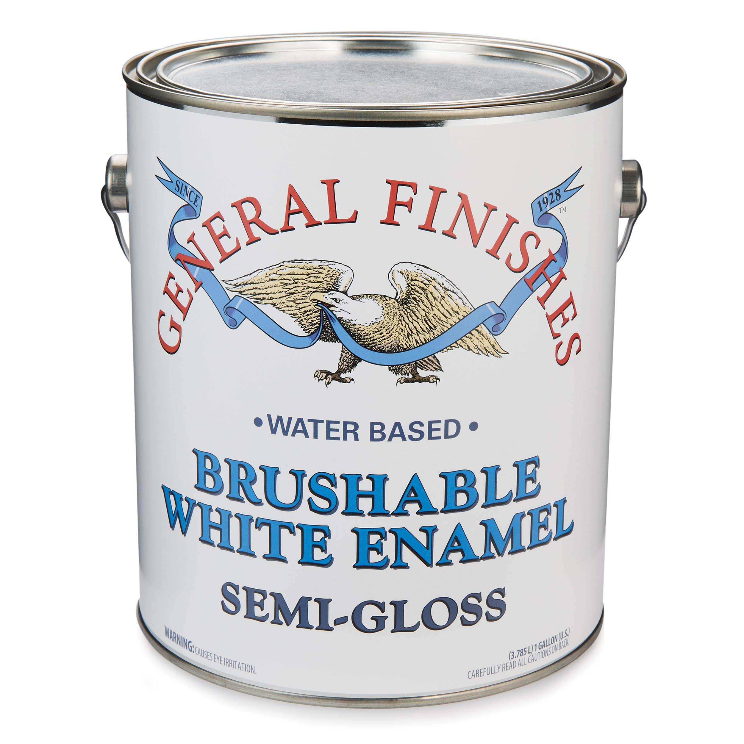 White Semi-Gloss Enamel Water Based Gallon