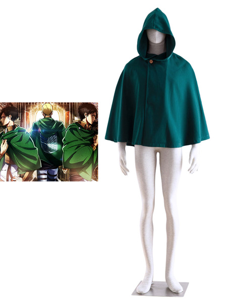 Milanoo Attack on Titan Shingeki no Kyojin Cloak Cosplay Costume Survey Corps Scout Regiment Cloak Halloween