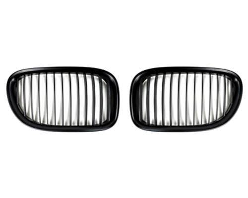 AutoTecknic Replacement Stealth Black Front Grilles BMW F01 | F02 7-Series 2007-2015