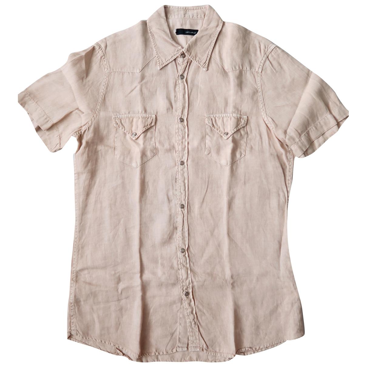 Dsquared2 \N Hemden in  Beige Leinen
