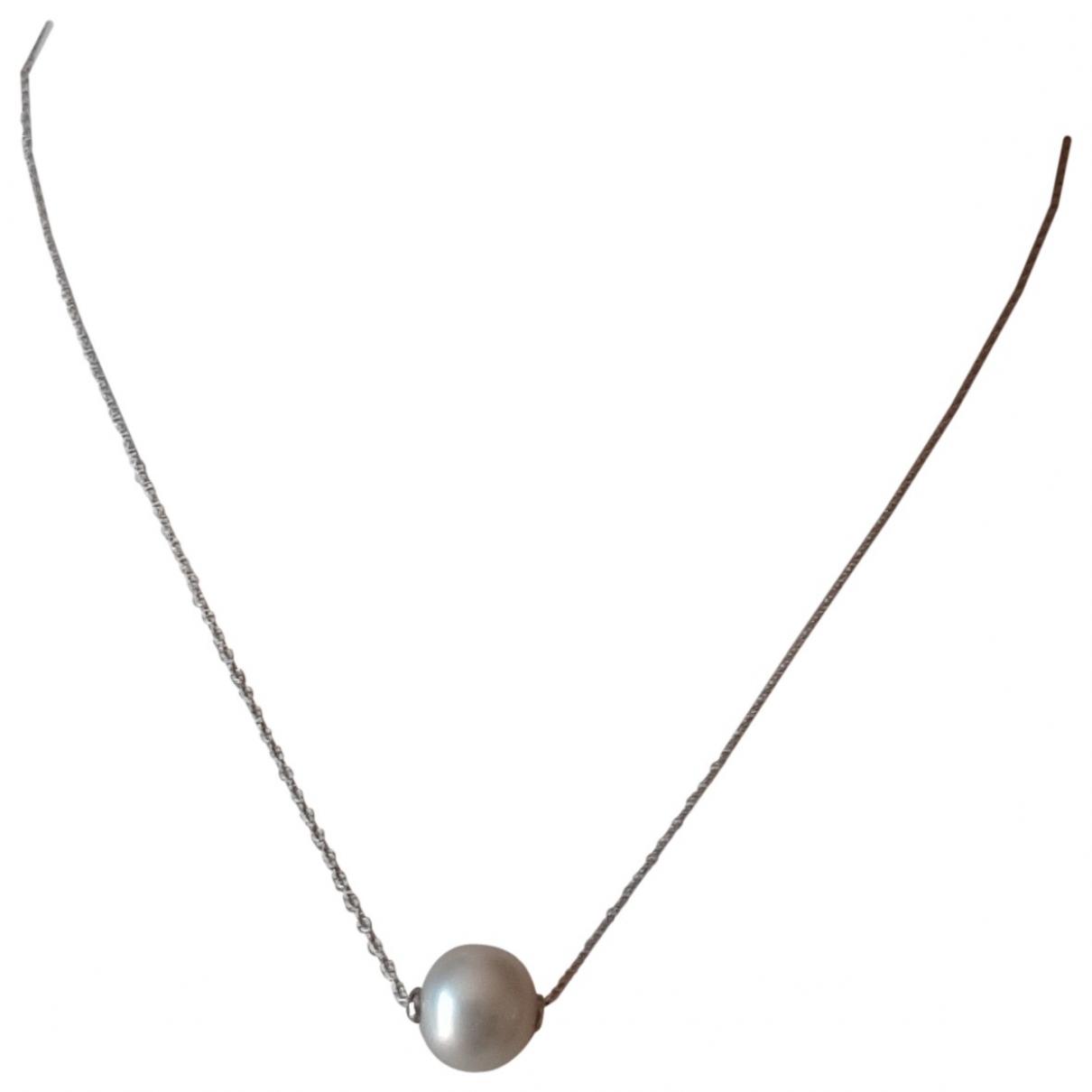 Collar Nacre de Oro blanco Non Signe / Unsigned