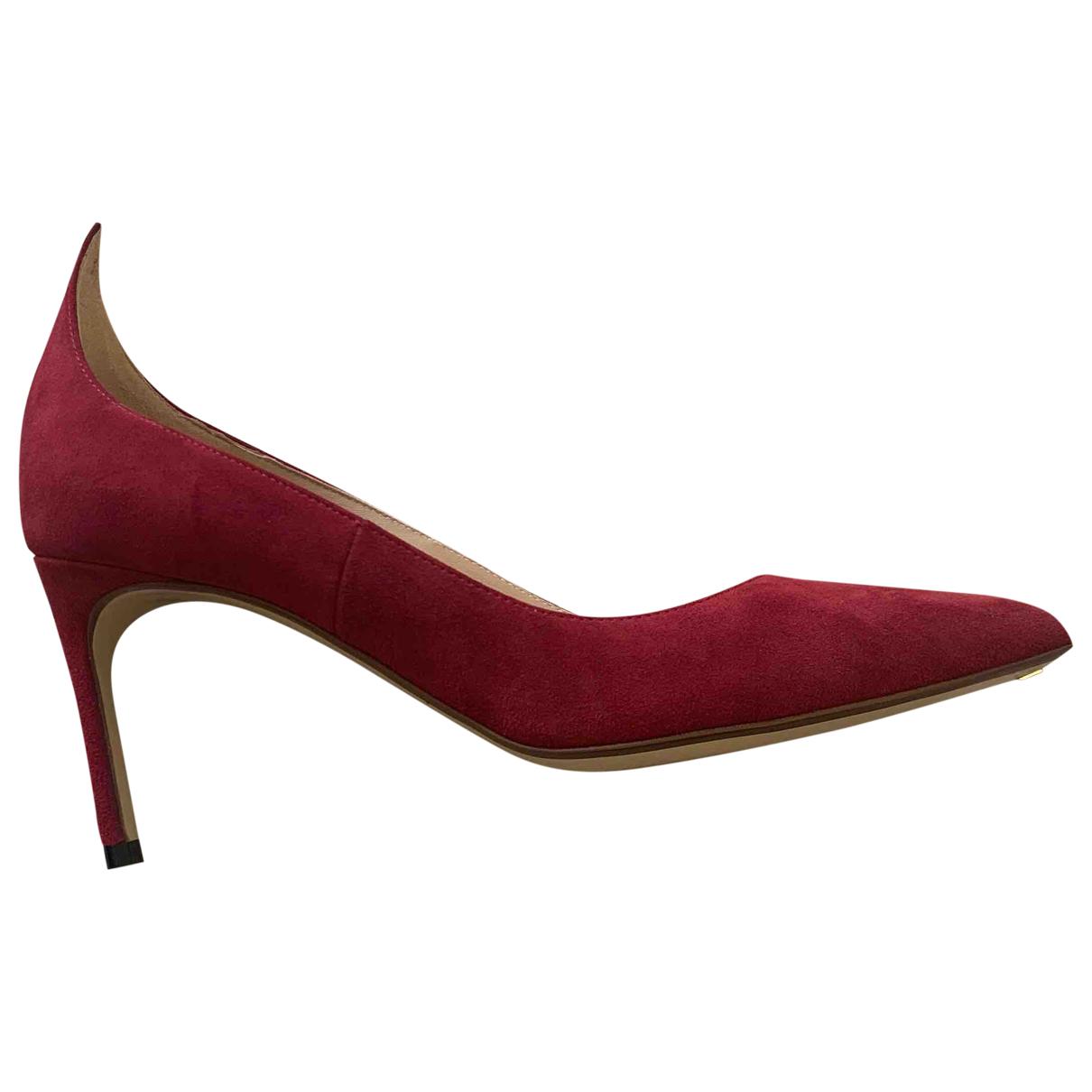 Francesco Russo - Escarpins   pour femme en suede - rouge