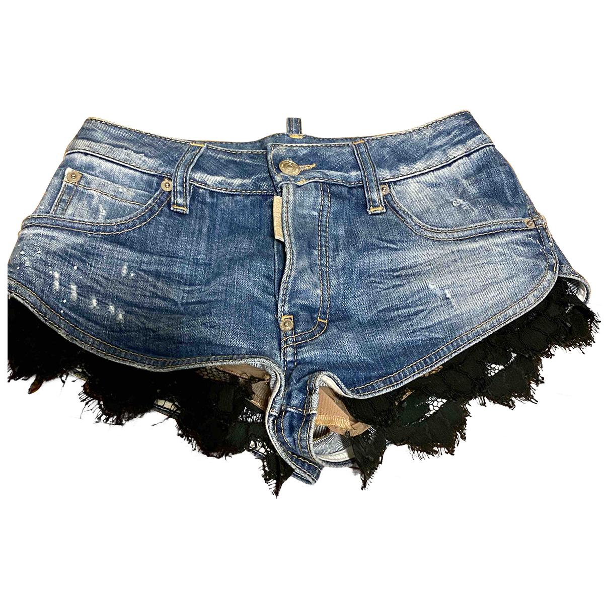 Dsquared2 \N Blue Denim - Jeans Shorts for Women 38 IT