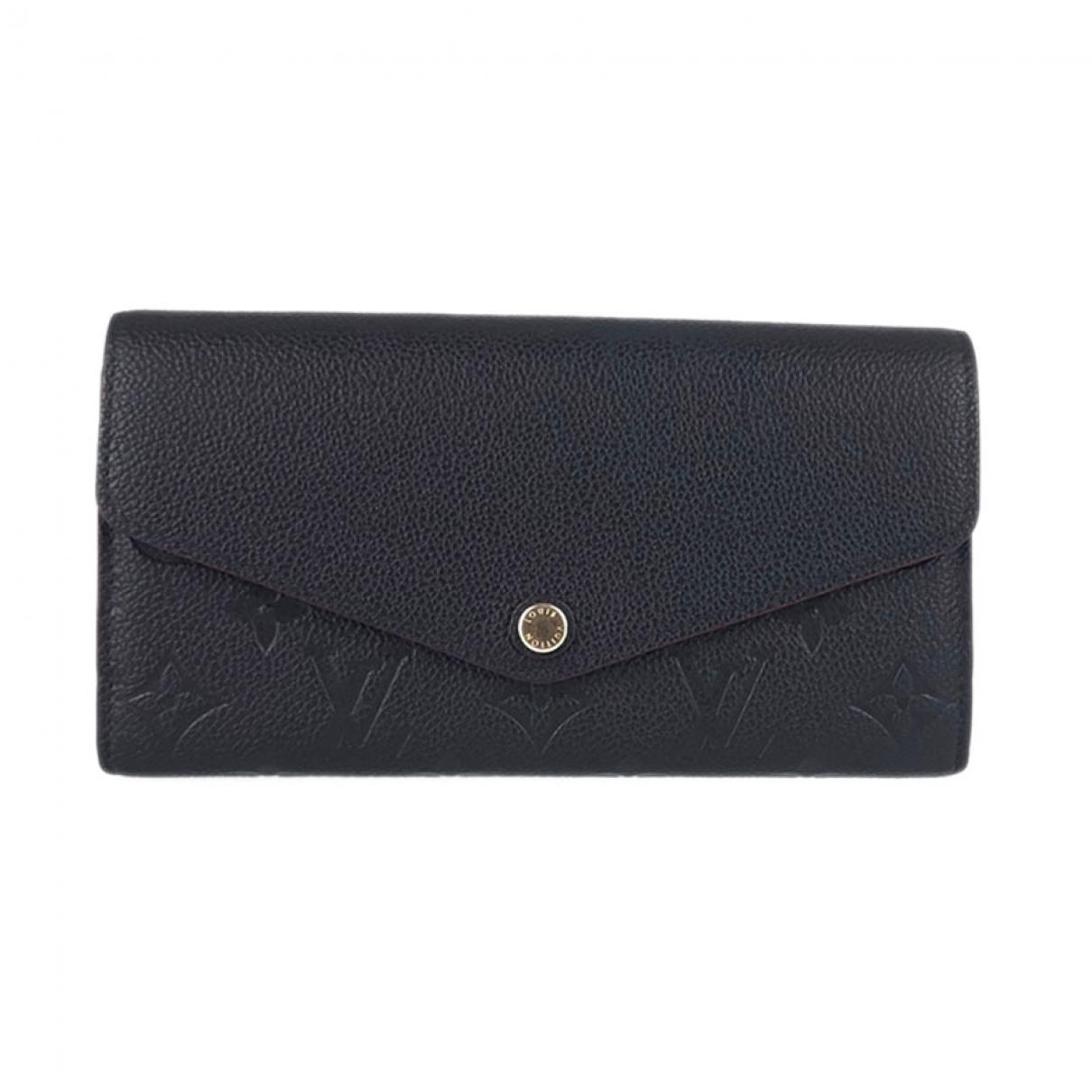 Louis Vuitton Sarah Portemonnaie in  Schwarz Leder