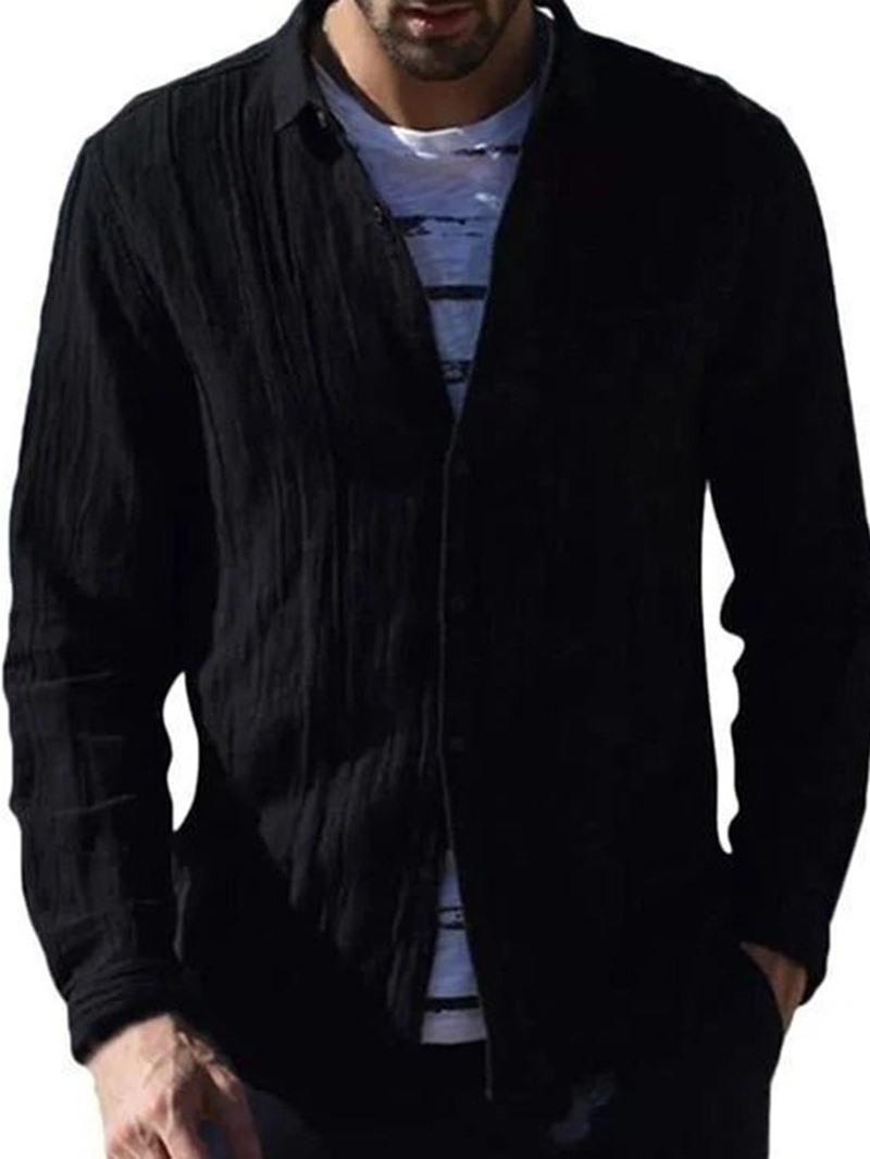 Ericdress Casual Plain Lapel Fall Slim Shirt