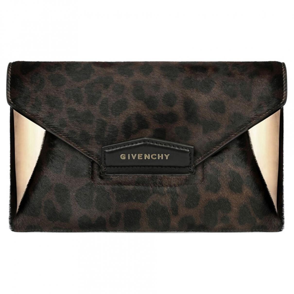 Bolsos clutch Antigona en Piel Negro Givenchy
