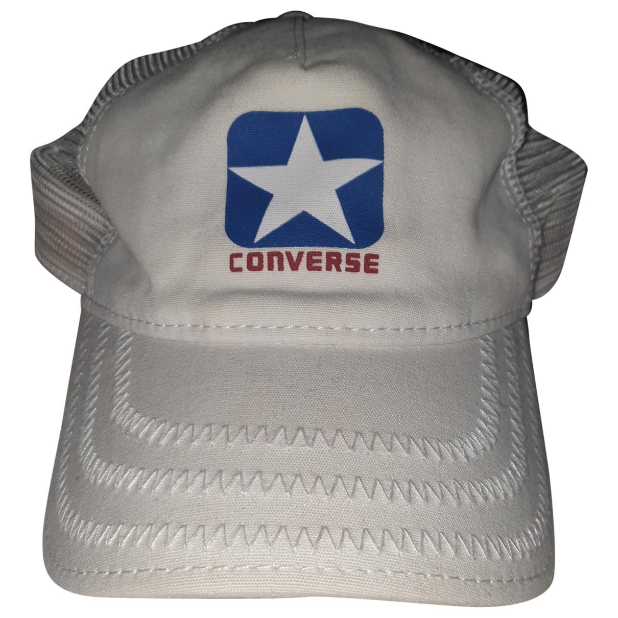 Converse - Chapeau & Bonnets   pour homme en coton - blanc