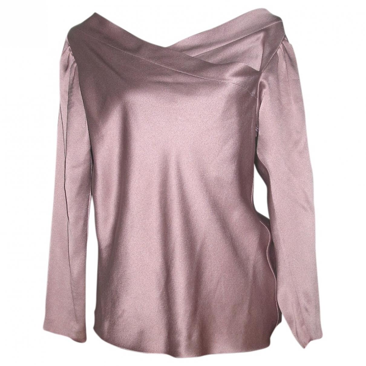 Alberta Ferretti - Top   pour femme en soie - rose