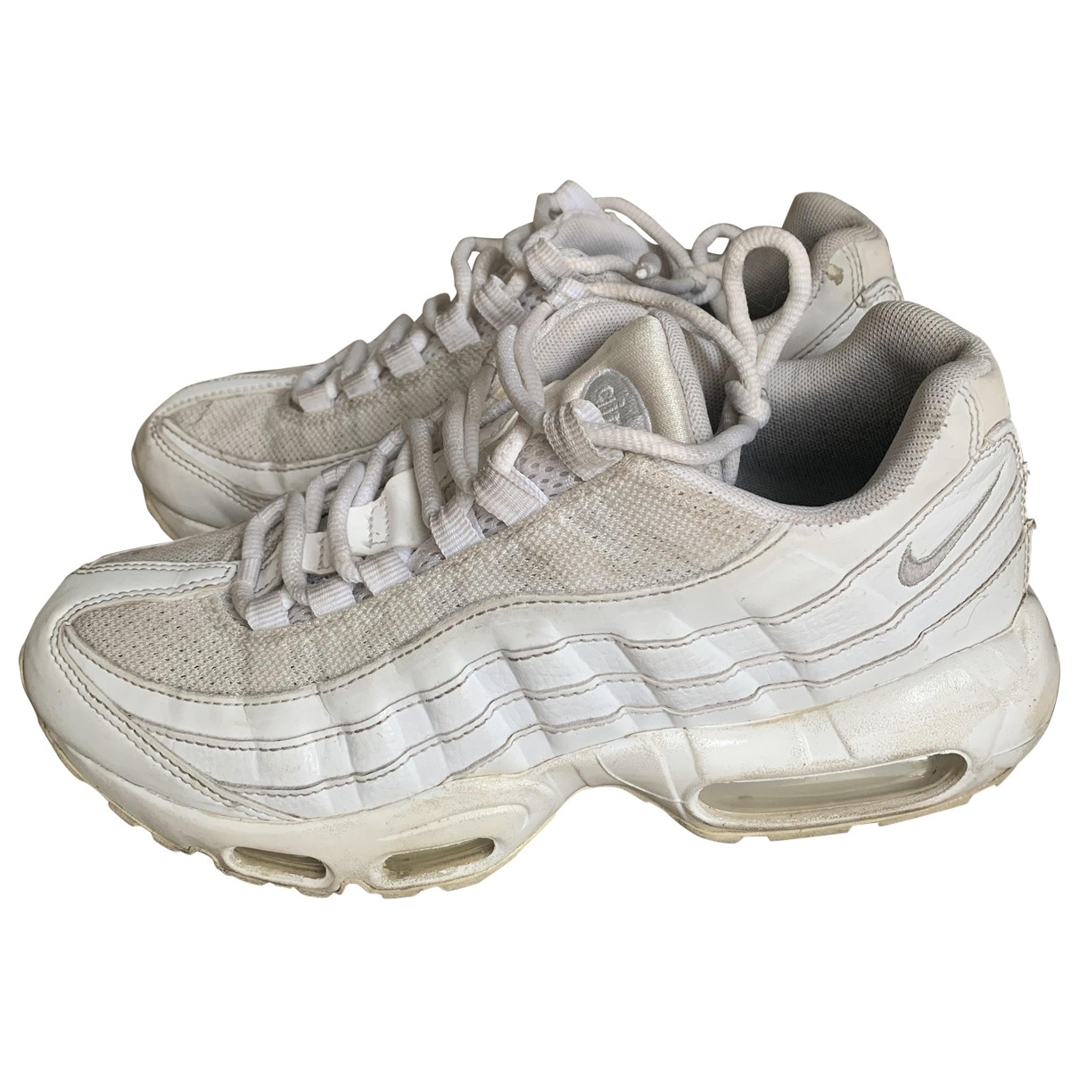 Nike Air Max 95 White Leather Trainers for Women 38 EU