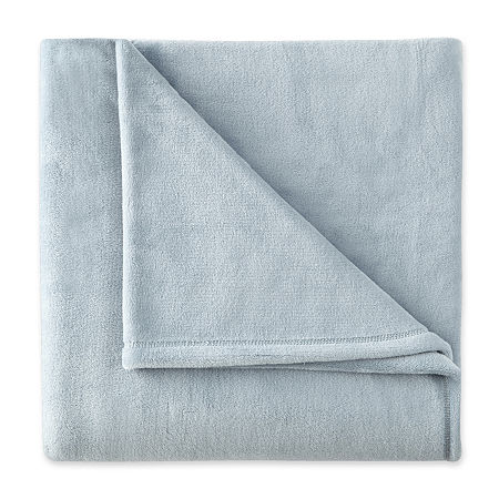 Home Expressions Velvet Plush Plush Midweight Throw, One Size , Blue