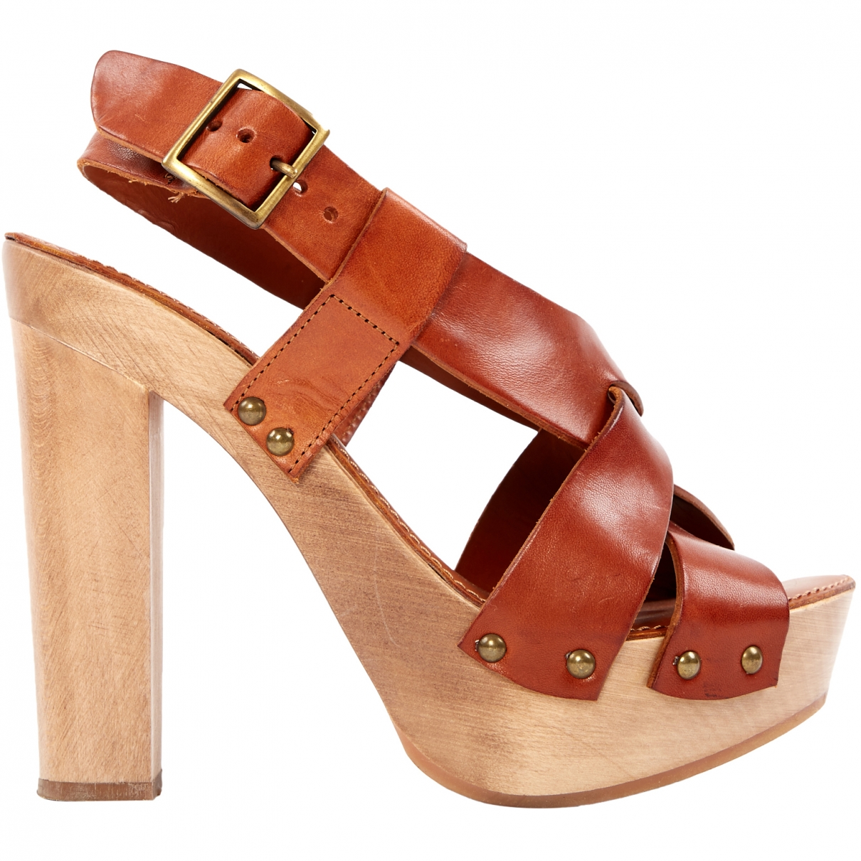 Dolce & Gabbana \N Camel Leather Sandals for Women 37 EU