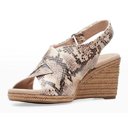 Clarks Womens Lafley Alaine Wedge Sandals, 11 Medium, Multiple Colors