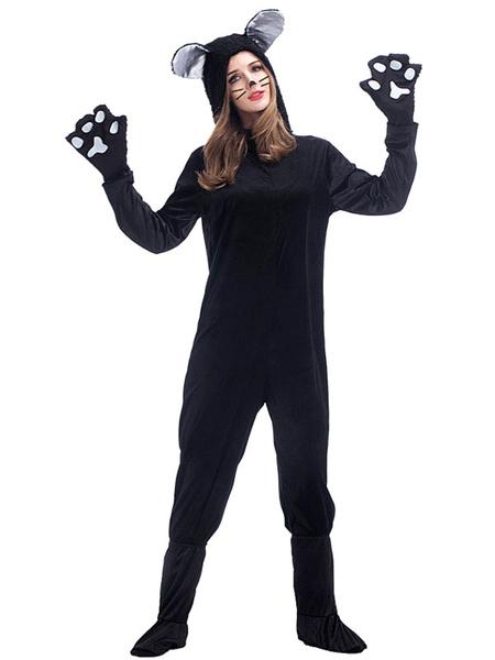 Milanoo Kigurumi Pajamas Cats Woman\'s Shoes Cover Winter Sleepwear Animal Costume Halloween