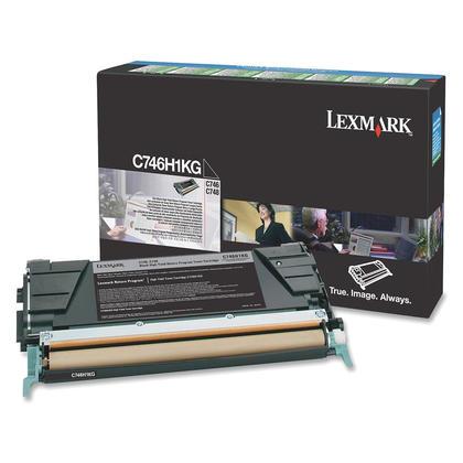 Lexmark C746H1KG Original Black Return Program Toner Cartridge High Yield