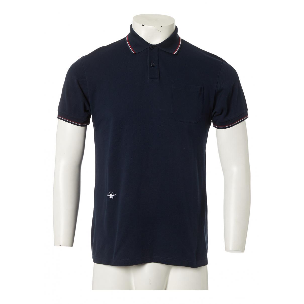 Dior - Polos   pour homme en coton - marine