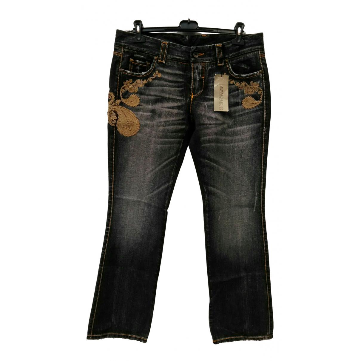 Ermanno Scervino \N Blue Denim - Jeans Jeans for Women 44 FR