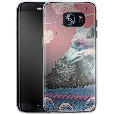 Samsung Galaxy S7 Edge Silikon Handyhuelle - Lone Wolf von Mat Miller