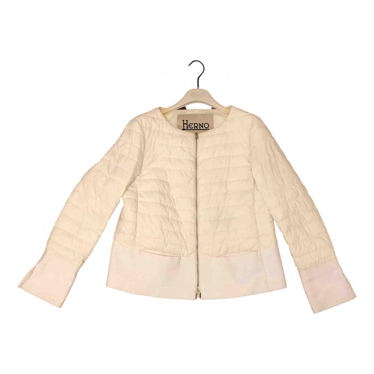 Herno - Veste   pour femme en coton - blanc
