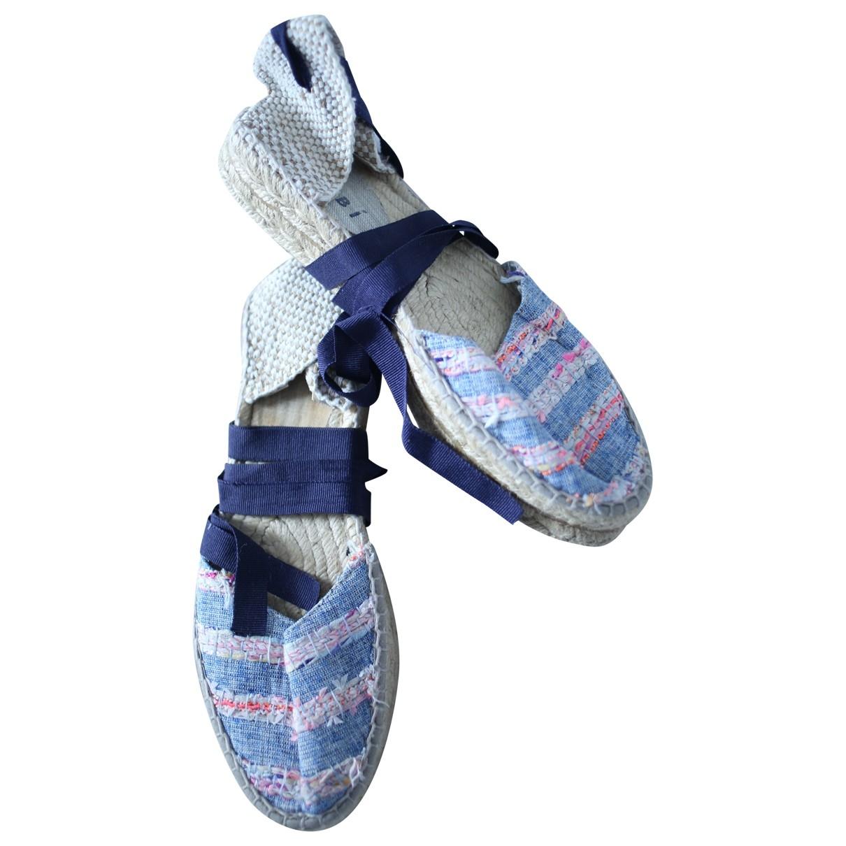 Manebi - Espadrilles   pour femme en toile - bleu