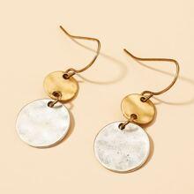 Double Round Drop Earrings