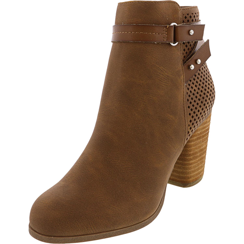 Madden Girl Women's Dagger Cognac Paris Ankle-High Boot - 7M