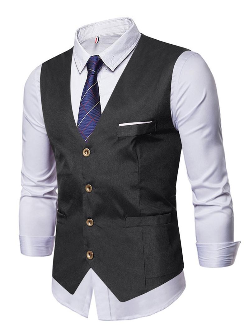 Ericdress V-Neck Fall Single-Breasted Waistcoat