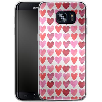 Samsung Galaxy S7 Edge Silikon Handyhuelle - Heart Watercolour von Amy Sia