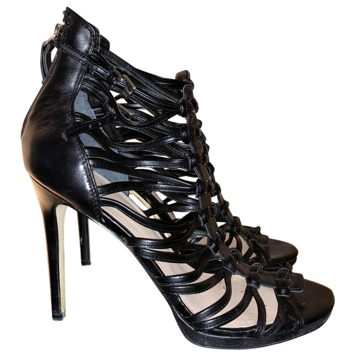 Guess \N Black Leather Heels for Women 40 EU