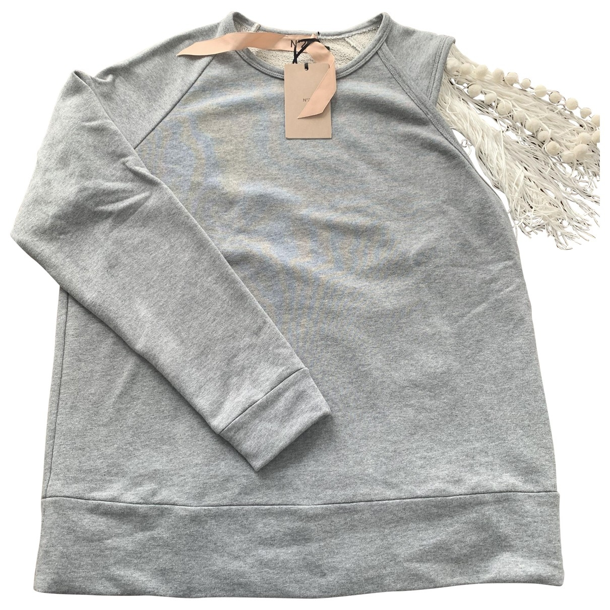 N°21 \N Grey Cotton Knitwear for Women 44 IT