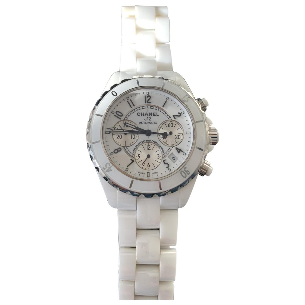 Chanel J12 Automatique White Ceramic watch for Men \N