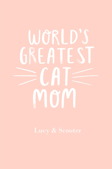 Non-Photo 20x30 Adhesive Poster, Home Décor -Worlds Greatest Cat