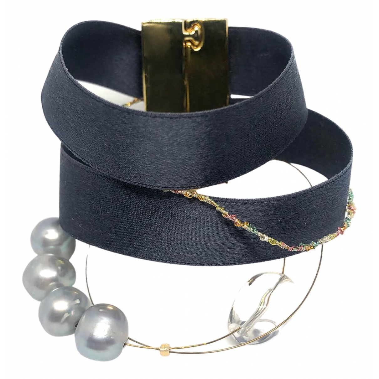 Non Signé / Unsigned \N Grey Silk bracelet for Women \N