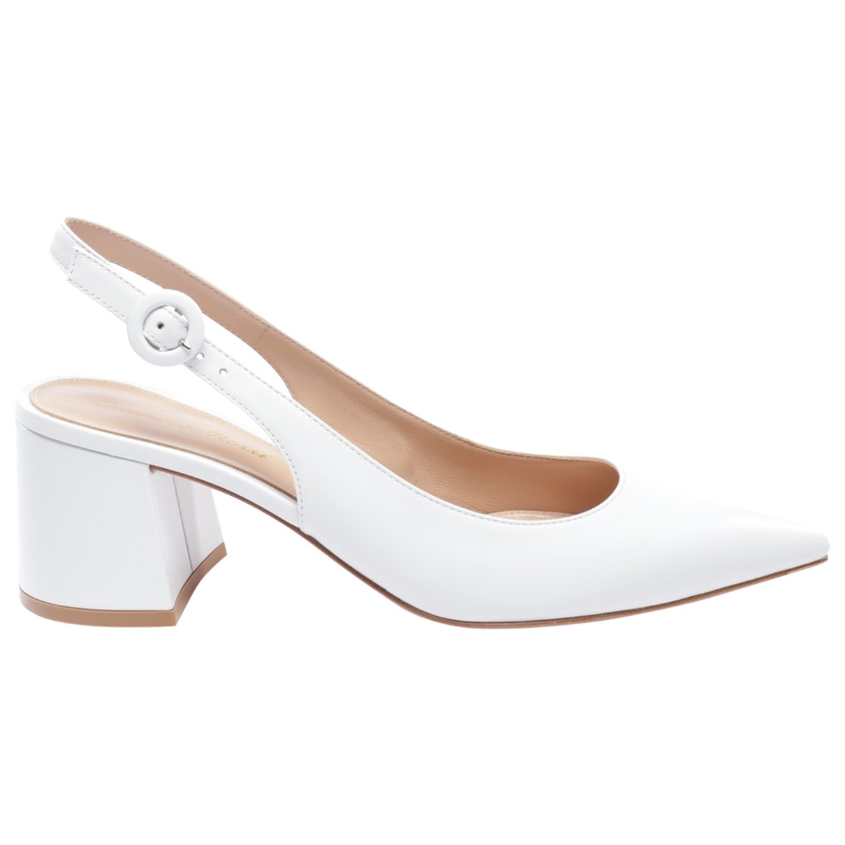 Gianvito Rossi \N White Leather Heels for Women 37 EU