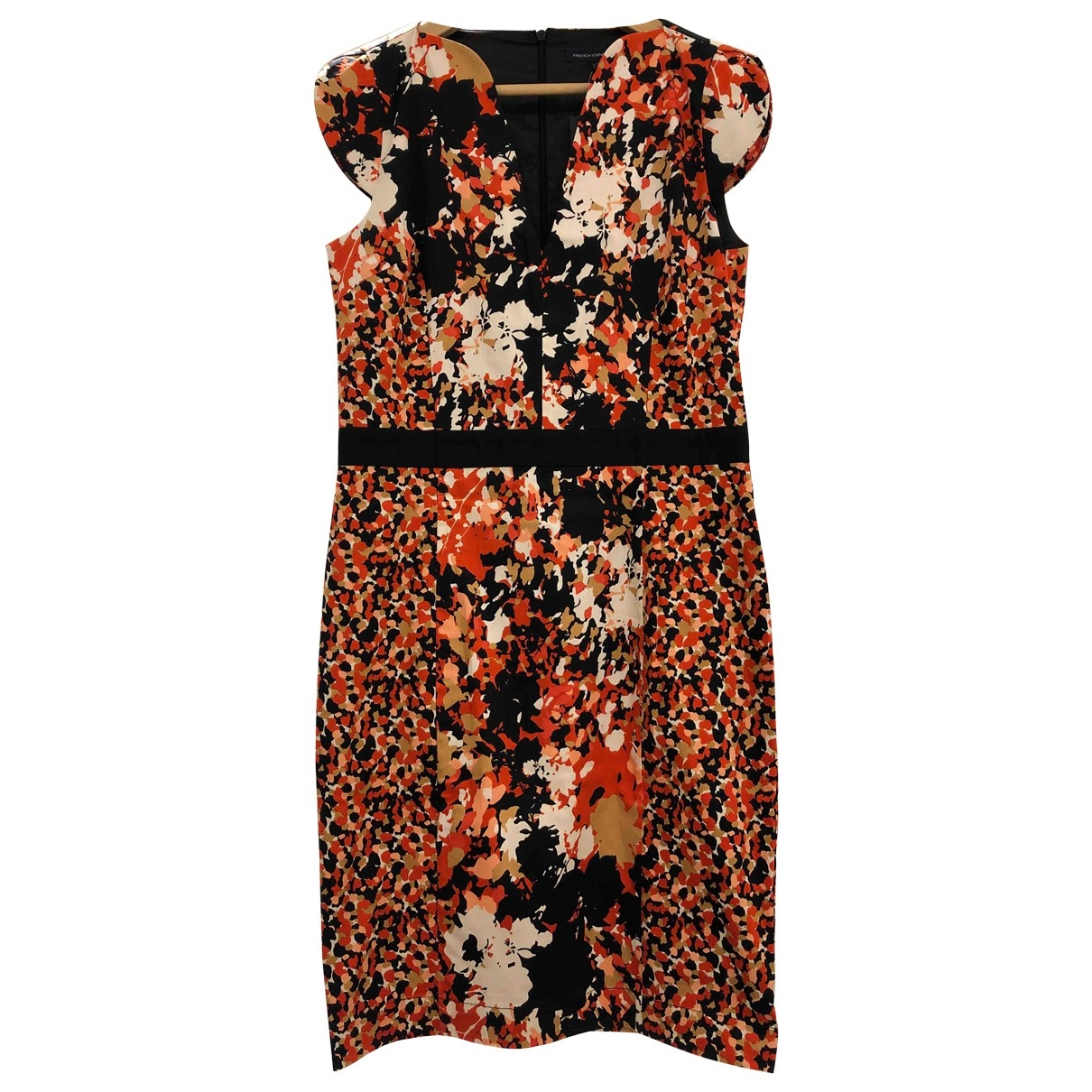 French Connection \N Multicolour Cotton - elasthane dress for Women 14 UK